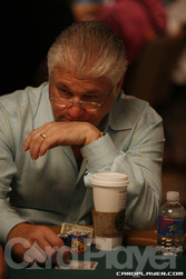 Barry Shulman vying for a second World Series of Poker bracelet today