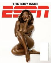 Serena Williams poses on one of the covers for the Body Issue.