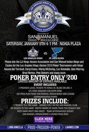 A flyer for the San Manuel poker tournament