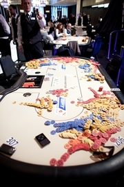 Aftermath of the Robbery -- Photo Courtsey of PokerStars
