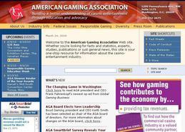 Screenshot of the AGA's website