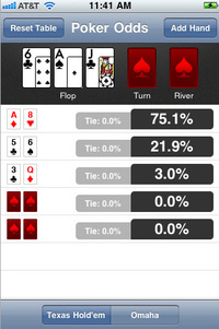 Texas Holdem e royal flush