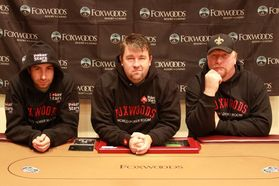 Jonathan Duhamel, Chris Moneymaker, and Darvin Moon
