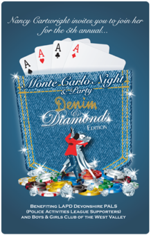 Monte Carlo Night Invitation