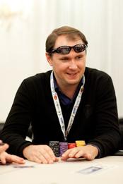 Day 1A Chip Leader Sergii Baronov. Credit: Neil Stoddart and PokerStars