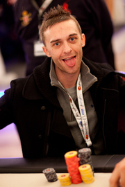 Chip Leader Laurence Houghton. Credit: Neil Stoddart and PokerStars