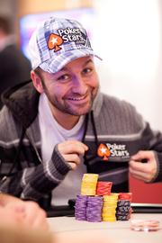 Chip Leader Daniel Negreanu. Credit: Neil Stoddart and PokerStars