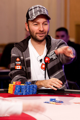 Chip Leader Daniel Negreanu. Credit: Neil Stoddart and PokerStars