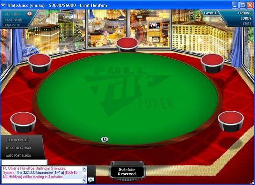 Full Tilt Poker's New $3K-$6K Limit Hold'em Table