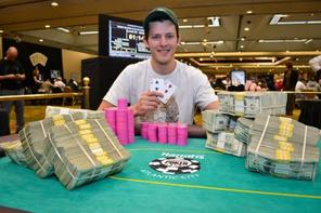 Matt Waxman took down the WSOP Circuit main event in Atlantic City Tuesday. Photo courtesy of WSOP.