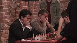 Sarwer playing in Poland. Credit. United States Chess Federation