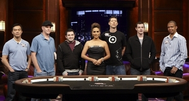 Poker After Dark Players With Host Leeann Tweeden