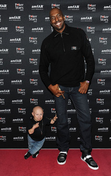 Verne Troyer and John Salley