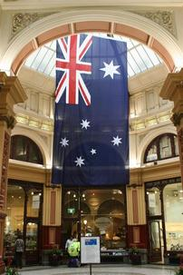 Australian Flag in Block Arcade -- Downtown Melbourne