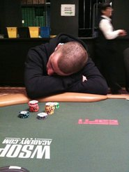 Griffin resting at the 2010 WSOP