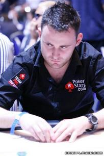 JP Kelly is second in chips going into day 2