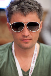 Chip leader Leonid Bilokur