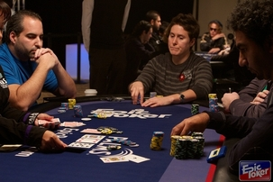 From Left to Right: Matt Glantz, Vanessa Selbst and Faraz Jaka compete at the EPL