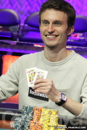 $5,000 mix-max NLH champion Aubin Cazals
