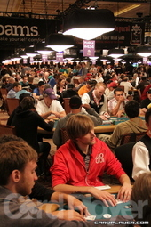 Players in the Amazon room on day 1C of the WSOP main event