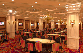 The New Sands Poker Room At The Venetian