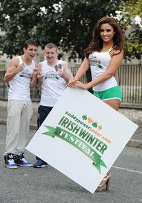 Irish Boxers Paddy Barnes and Michael Conlon with Nadia Forde