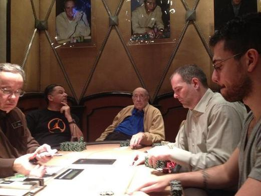 Lederer playing poker at Bellagio last week. Photo from @RealCrazyMike Twitter account