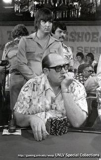 A Young Eric Drache Stands Behind Doyle Brunson
