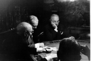 Truman at the Poker Table
