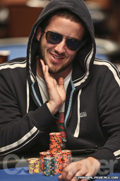 Merson during the $10,000 six-max no-limit hold'em championship