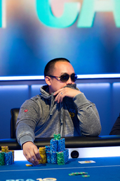Final table chip leader Jerry Wong