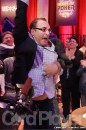 Matusow celebrates his win