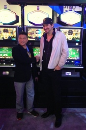 Johnny Chan and Phil Hellmuth at G2E