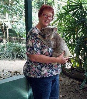 Jinda Johnson and koala