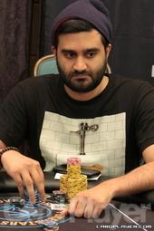 Day 1B chip leader Shankar Pillai