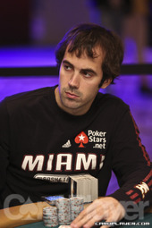 Mercier playing the 2012 WSOP