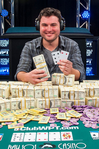 James Carroll after winning WPT Bay 101 Shooting Star