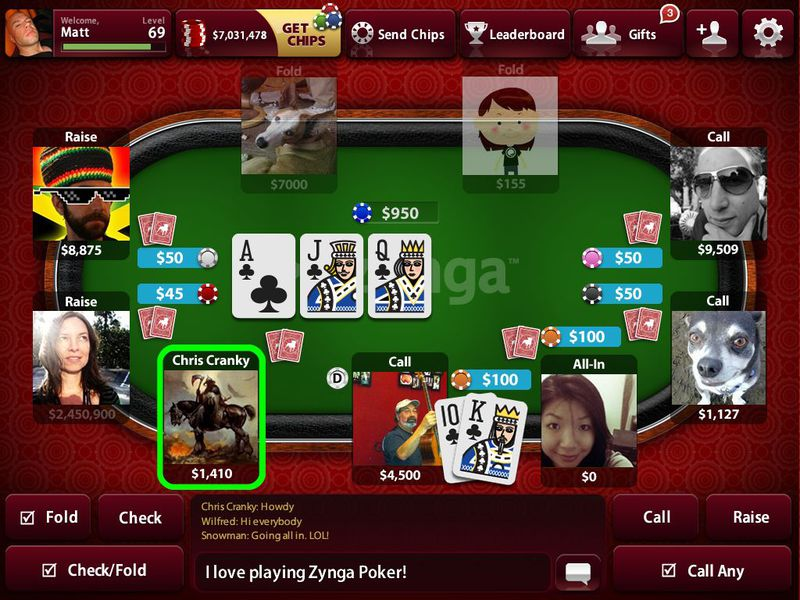 facebook zynga poker