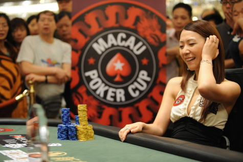 Team PokerStars Pro Celina Lin at the Macau Poker Cup