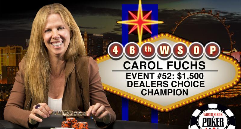 Carol Fuchs Becomes First Female Bracelet Winner Of 2015 World Series Of Poker Poker News