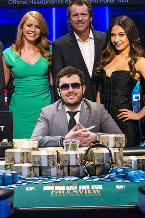 Zinno after winning the WPT Fallsview main event.