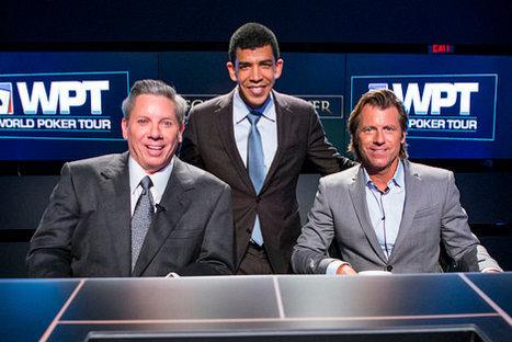 Pliska with commentators Mike Sexton and Vince Van Patten