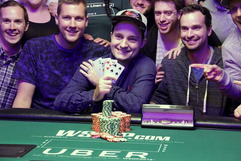 Laplante and Friends After Winning Bracelet
