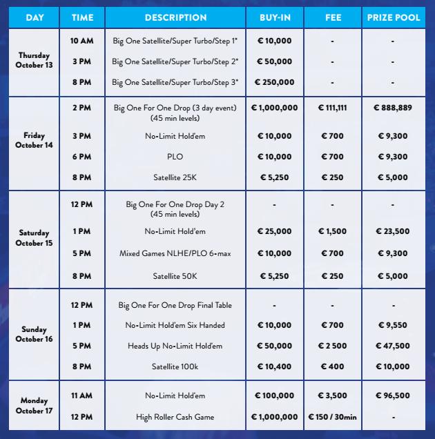 big one schedule