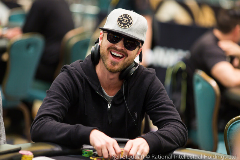 Aaron Paul on day 1B of the main event