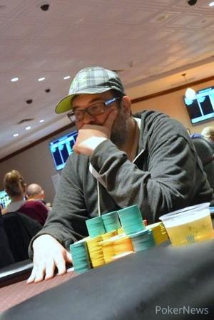 Day 1A chip leader Leo Kaplin