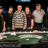 The Final Table of the WPT Borgata Poker Classic, From Left to Right: Lee Watkinson, Noah Schwartz, Ervin Prifti, Gavin Griffin, Thomas Hare, David Tran