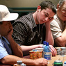 "From left to right: Freddy Deeb, Tom ""Durrr"" Dwan, and T.J. Cloutier on Day 4 of the WPT Foxwoods World Poker Finals"