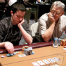 Tom Dwan (left) and T.J. Cloutier on Day 4 of the WPT Foxwoods World Poker Finals