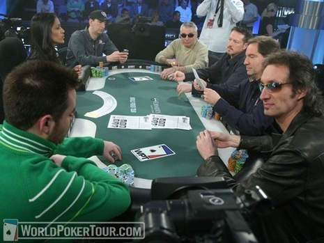 The six final tablists at the WPT Foxwoods Poker Classic